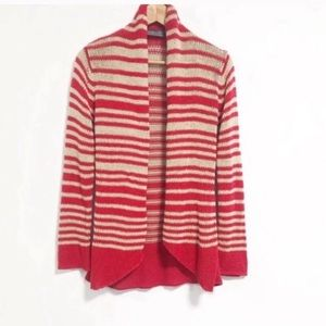 Wooden ships. Loose knit open front draped cardi